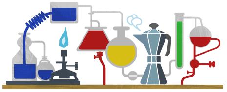 Google Logo: Robert Bunsen's 200th Birthday - German chemist