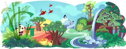 Google Logo: 2011 Earth Day