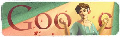 Google Logo: Nellie Melba's 150th Birthday - Australian opera singer