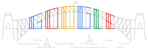 Google Logo: Sydney's Harbour Bridge 80th birthday