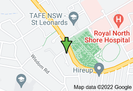 Map for 188/192 Pacific Hwy, Greenwich NSW 2065