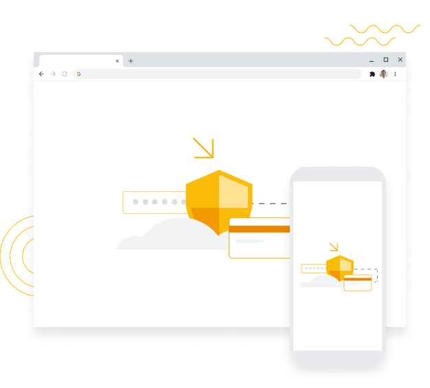 Chrome browser illustration