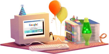 Doogle Google 17esimo compleanno.