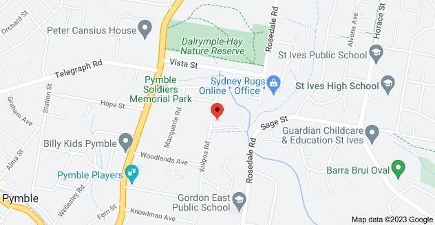 Map of 67 Kulgoa Rd, Pymble NSW 2073