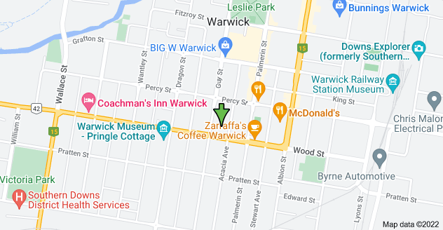 Map of St Mary's Hall, 47B-47C Wood St, Warwick QLD 4370