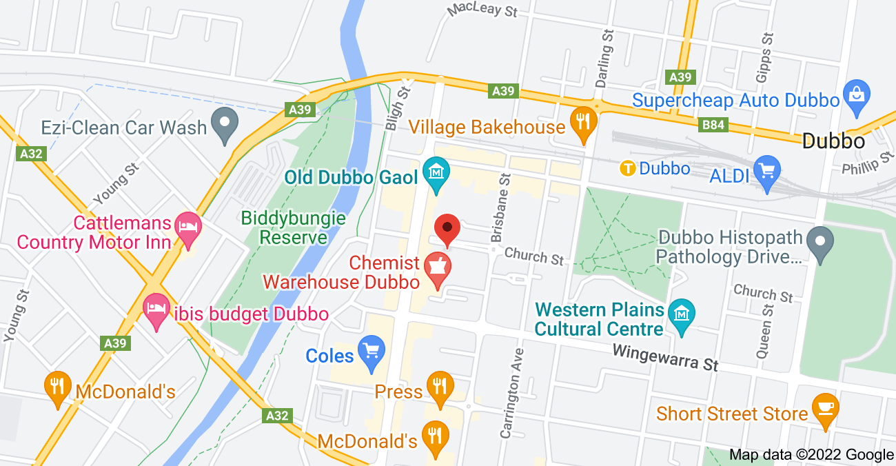 Map of 31-33 Church St, Dubbo NSW 2830
