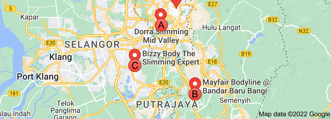Map of Malaysia slimming