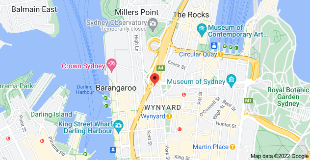 Map of 1 York St, Sydney NSW 2000