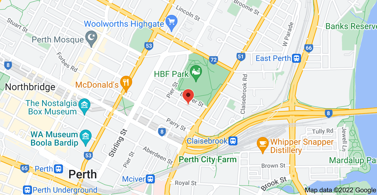 Map of Map for 3V39+3P Perth, Western Australia