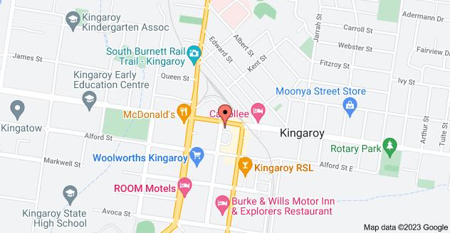 Map of 163 Haly St, Kingaroy QLD 4610