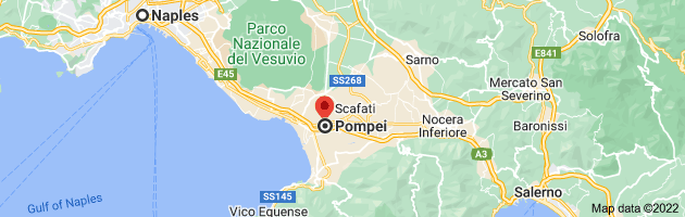 Map from Naples, Metropolitan City of Naples, Italy to Pompei, 80045 Metropolitan City of Naples, Italy