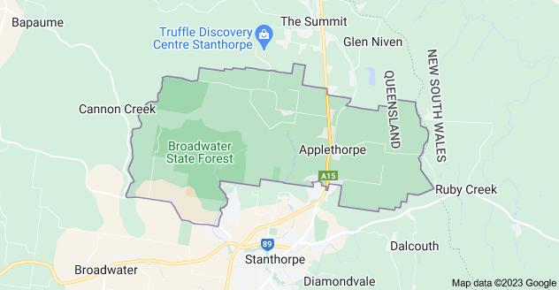 Map of Applethorpe QLD 4378