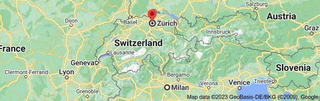 Map from Milan, Metropolitan City of Milan, Italy to Zürich, Switzerland