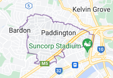 Map of Paddington, Queensland