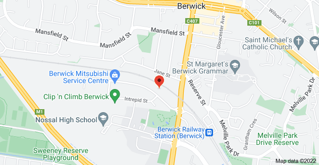 Map of 30 Enterprise Ave, Berwick VIC 3806