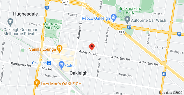 Map of 99 Atherton Rd, Oakleigh VIC 3166